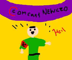 hitler is announced as CEO of comcast
