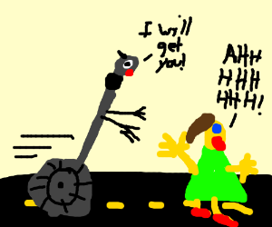Killer Segway Chases a Girl down the Street