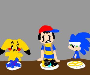 Smash Bros. break room has bad cafeteria food
