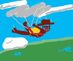 Heisenberg skydiving