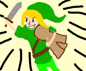 Link rescues... a cardboard Zelda cutout!?