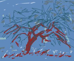 Piet Mondrian's Blue Period