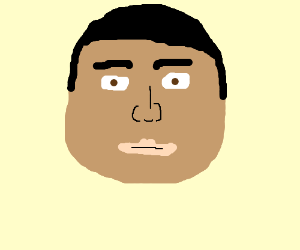 A Light-Skined Black Guy Stares at you.
