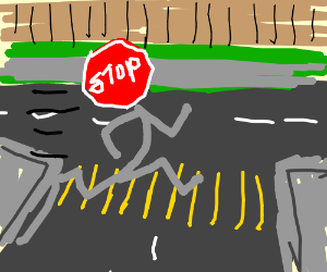 Stop sign is a hypocrite