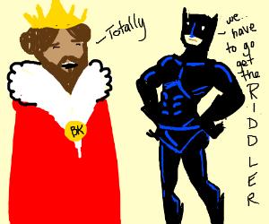 Super King and Batman team up to catch Riddler