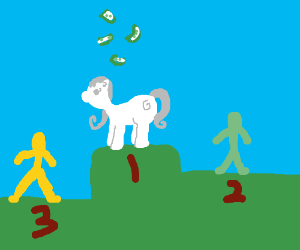 OC character wins 1st place, wins money