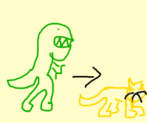 Proof of Evolution: Dinos evolved into cats!