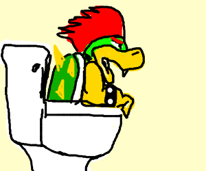 bowser is in my toilet