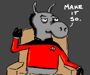 captain picard is a donkey
