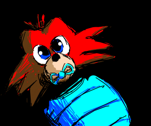 foxy(fnaf) as a baby