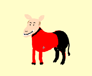 Captain Picard is now a donkey