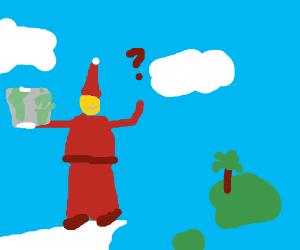 Santa got lost