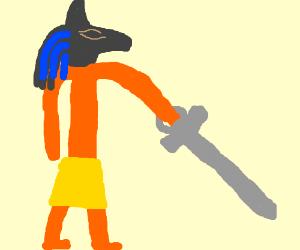 Anubis wields an Ahnk Sword