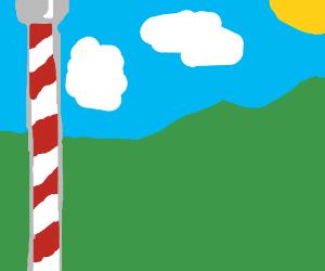 Santa wonders why Iceland has a giant pole.