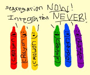 Racist crayons
