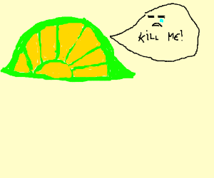 """the unhappy lime says """"kill me"""""""