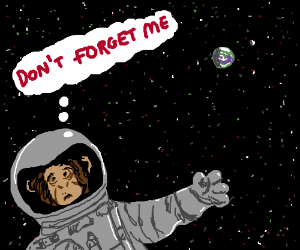First chimp in space is still out there...