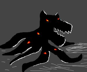 Flash in the dark profiles horrifying monster
