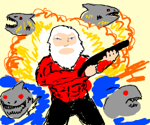 Santa in LAZERSHARK III: DEATH FOR CHRISTMAS