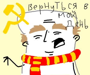 Communist russian marshmallow grandpa