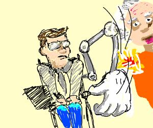 Steven Hawking slaps Albert Einstein