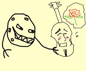 Moon molesting an innocent violin