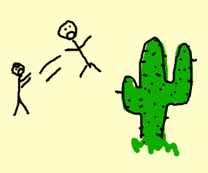 throwing your enemies at cactuses