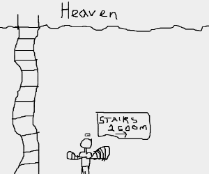 The rope ladder to heaven