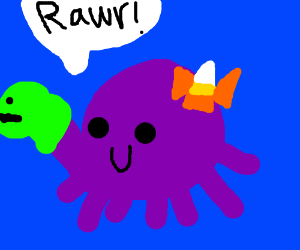 Octopus Candycorn sprinkled dinosaur hybrid