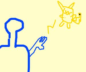 Bionic commando is going to zap Pikachu