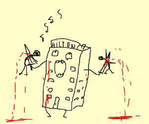 Living hotel sings and stabs people