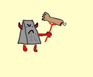 Devil Like Cheese Grater Attacks Human Flesh