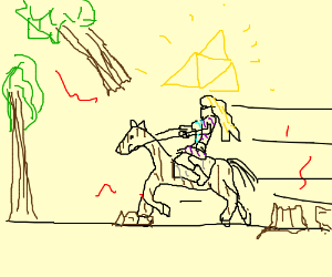 Trees keep bumping into Zelda's Horse