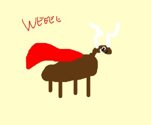Super Reindeer don't need no Santa