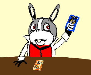 """Peppy Hare playing Magic: """"Tap Z or R twice!"""""""