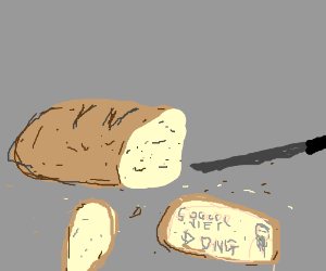 Bread shaped like dong