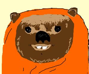 A smiling Ewok