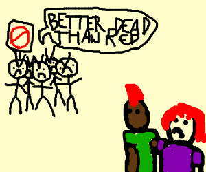 Red-haired couple encounters anti-ginger mob