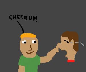 Cheer up, head!