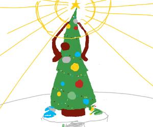 All worship the christmas tree