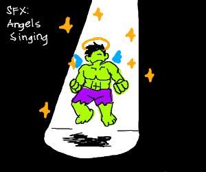hulk ascending to heaven