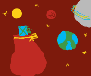 Santa's sack is lost in space