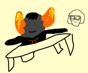 Tavros the table and Edna the chair