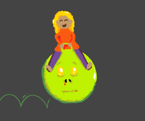 bouncy zombie head is sad :'(