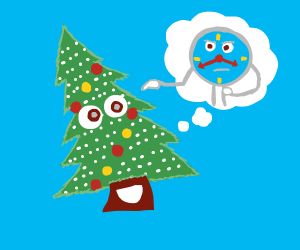 christmas tree learns how to tell time