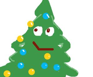 Cristmas tree is proud of itself