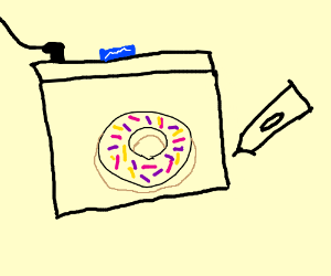 1th tablet drawing donut :)
