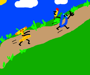Yellow and orange I chasing drawception D