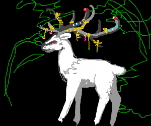 A majestic elk with decorated antlers