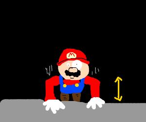 Mario doing pushups